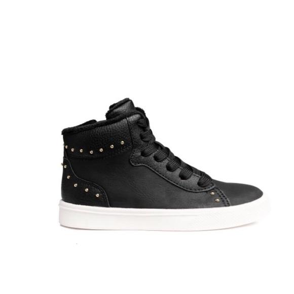 939106cd137b Hm Black Leather High Tops